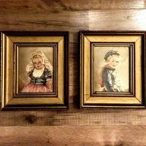 "Vintage 1940s ""Anne Allaban"" Adrian&Katrina Prints"